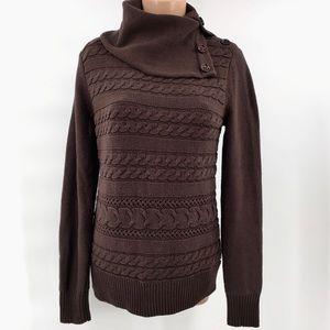 MICHAEL Michael Kors Brown Cowl Neck Sweater